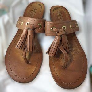 Coach leather flat sandals